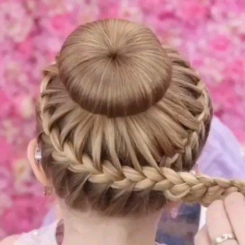 Braided Bun Tutorial Video – #braided #tutorial #video – #frisuren