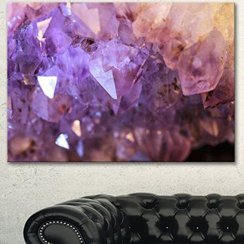 Designart PT14476-40-30 Purple White Natural Amethyst Geode Canvas Artwork, 40x30  Consider using purple wall art if you want to make any room in your home look unique, trendy and modern.  In fact you can get all kinds of purple home décor ideas by finding a few pieces of charming and cool purple decorative accents.  Combine these with purple metal wall art to create a fun purple home decoration theme.