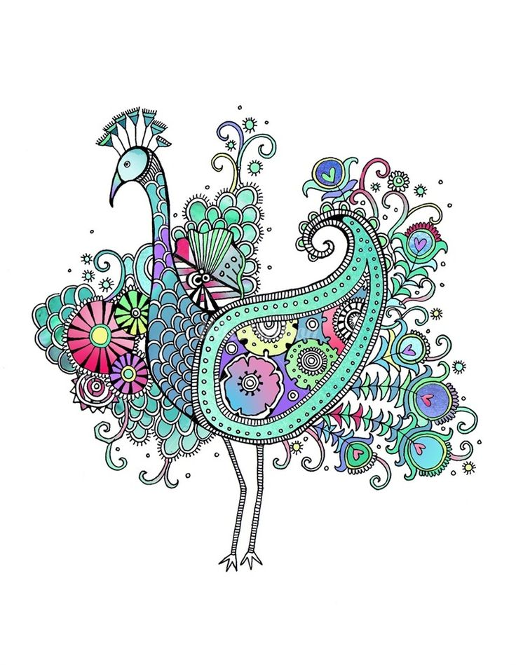 I wana see your peacock: Ideas, Peacocks, Doodle, Hand Drawings, Illustration, Zentangle, Surface Design