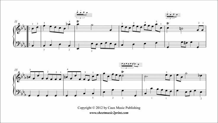 Johann Sebastian BACH (1685-1750) : Marche in E flat Major, BWV Anhang 127 From the Notebook for Anna Magdalena Bach (1725) www.sheetmusic2print.com/Bach/Marche-127.aspx