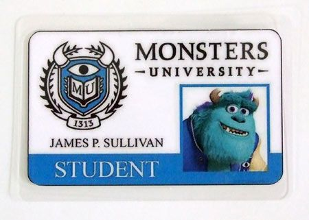 Carnet de estudiante Monstruos S.A. Monsters University. Sulley