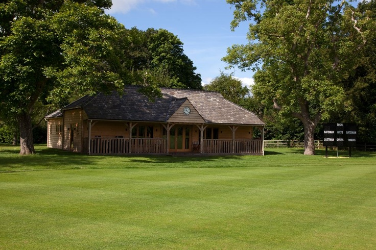 New cricket pavilion in the grounds of a Country House.