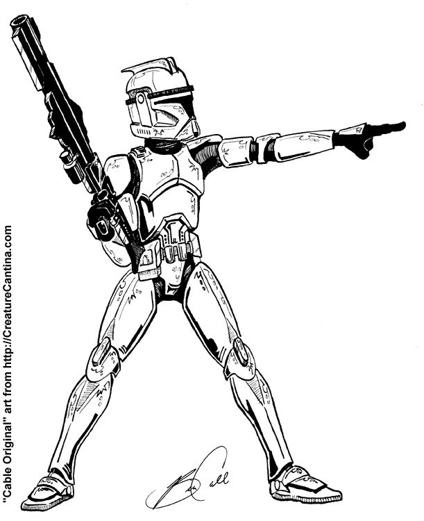 Clone Trooper Coloring Pages | COLORING PAGES FOR FREE