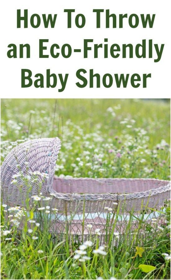 How To Throw an Eco-Friendly Baby Shower