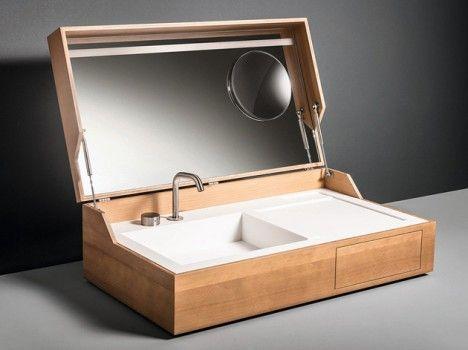 Pia portátil Hidden da Makro Portable sink - Hidden by Makro Italy