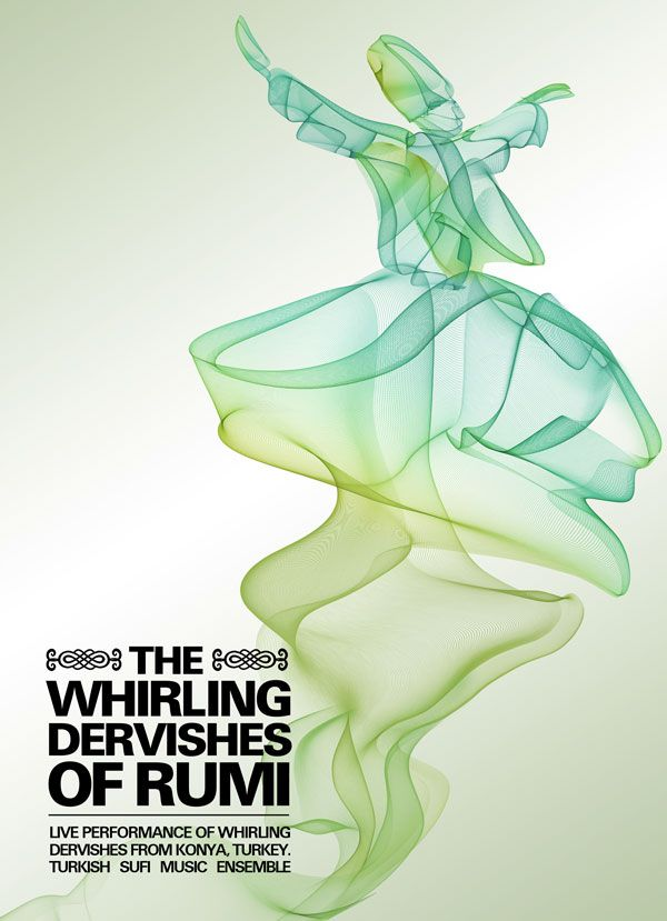 Whirling Dervishes of Rumi Poster. by Ismail Abay Core Design Production
