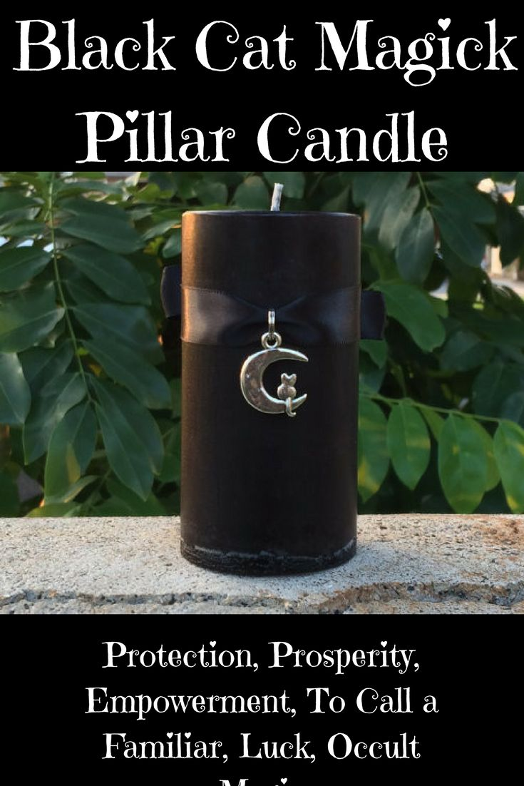 Black Cat Magick Pillar Candle  #etsy #ad #etsyshop #magick #witchcraft #spells #spellcandle #candle