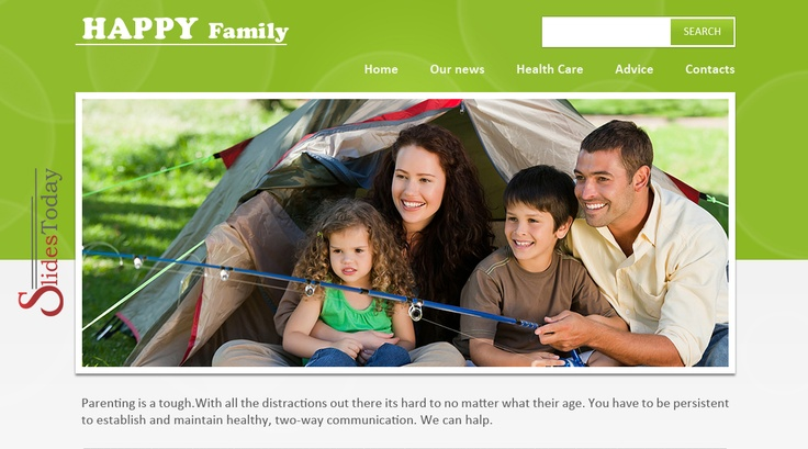 Happy Family web template