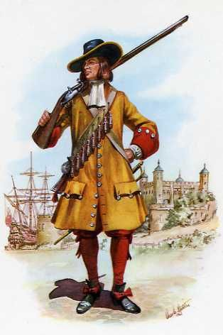 Soldier Of The Duke Of York And Albany's Maritime Regiment Of Foot 1664