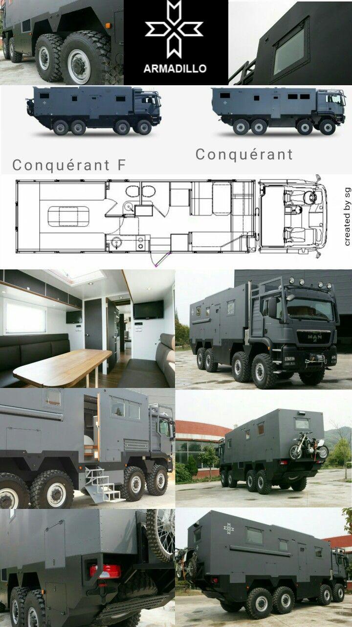 Man 8x8 Armadillo Rv Conquerant Trucks Overland Truck