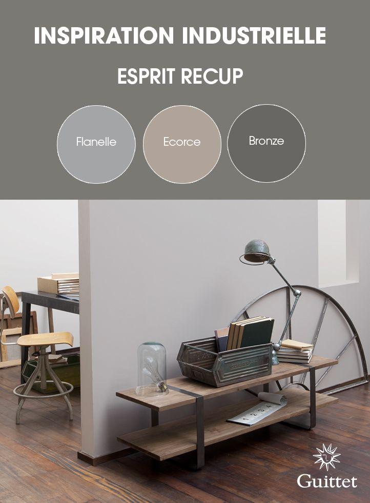 Collection Inspiration Industrielle de GUITTET. Des couleurs qui rappellent le vieillissement des matériaux pour une décoration naturelle et authentique.