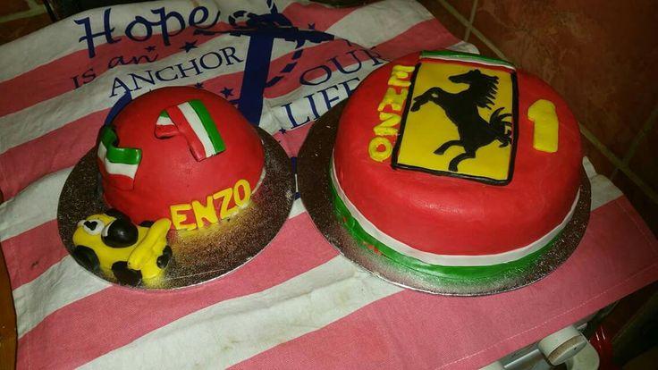 Ferrari taart en meptaart