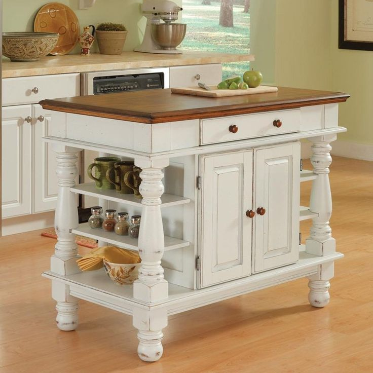 Home Styles Americana Kitchen Island - Kitchen Islands and Carts at Hayneedle