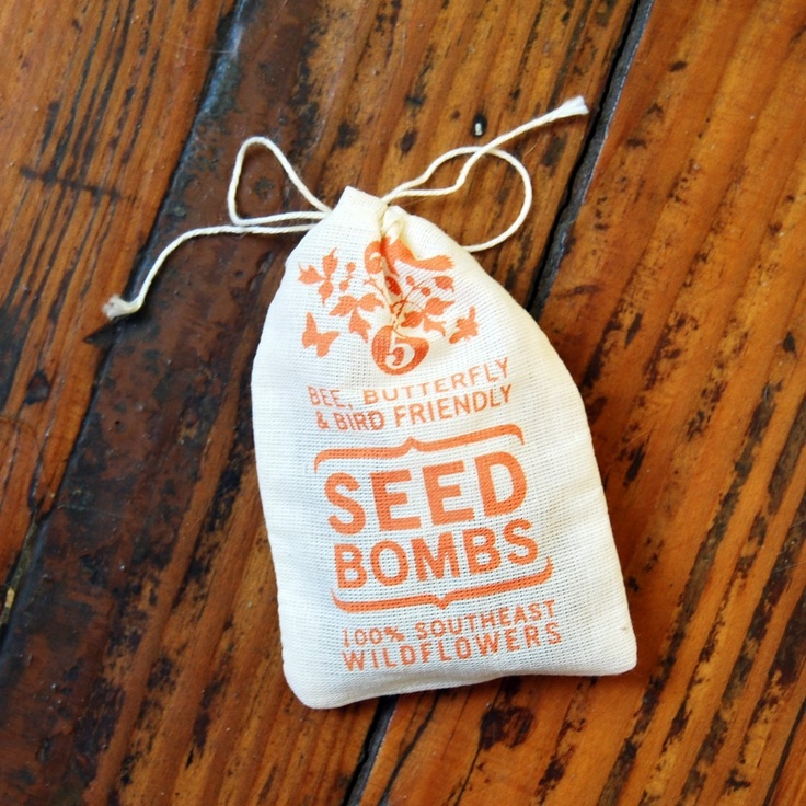 Southeast Seed Bombs - Bird Bee and Butterfly Friendly DIY Guerilla Gardening Seeds Seed Balls. $7.00, via Etsy.