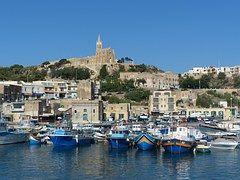 Barcos, Puerto, Iglesia, Gozo