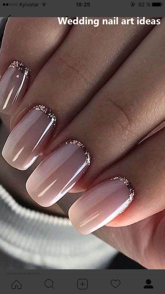 35 Einfache Ideen für das Design von Hochzeitsnägeln #nailartideas #naildesigns – Lovely Wedding Nails