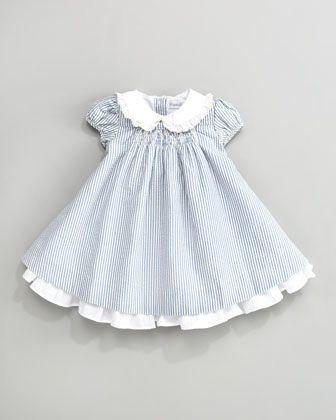 Seersucker Dress by Ralph Lauren Childrenswear at Neiman Marcus. I like the white under skirt.