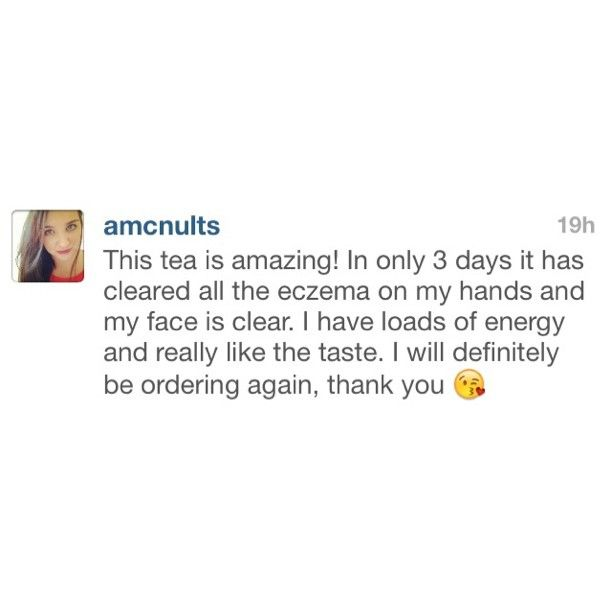 Sending a big joyful smile your way @amcnults!So incredibly happy to hear your eczema has started to clear up!!   Did you know that a large percentage of skin conditions such a eczema, psoriasis and acne can be linked back to poor digestion and sluggish elimination organs??  We make it our mission to help spread the awareness on how important digestive health is!!   Begin your journey with us today!! we are hear to support and answer any questions!☀️  www.slimbliss.com.au