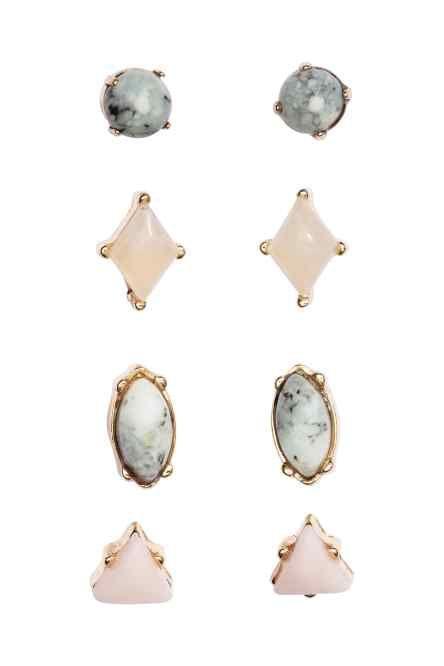 Marble H&M earings