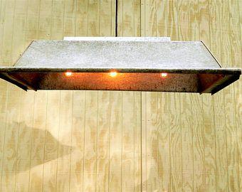 Galvanized Trough Light, Restaurant Light Feed Trough Light Pool Table Light Billiards Table Light Industrial Light Fixture Galvanized Metal