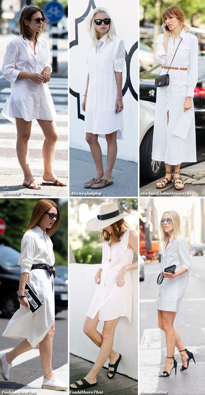 White Shirt Dressing