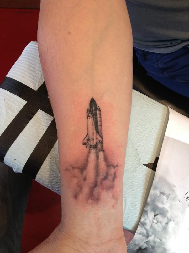 Space Shuttle Challenger Rocket Tattoo Astronaut Tattoo