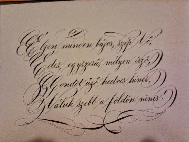 Kallinapló by Buzogány - nyugati kalligráfia -