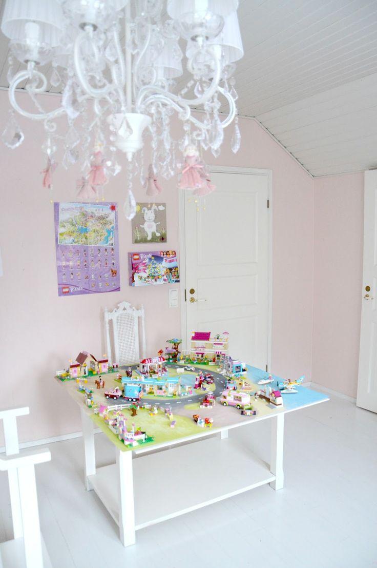 Homemade LEGO Friends Heartlake City play board @ a beautiful little life: door 4