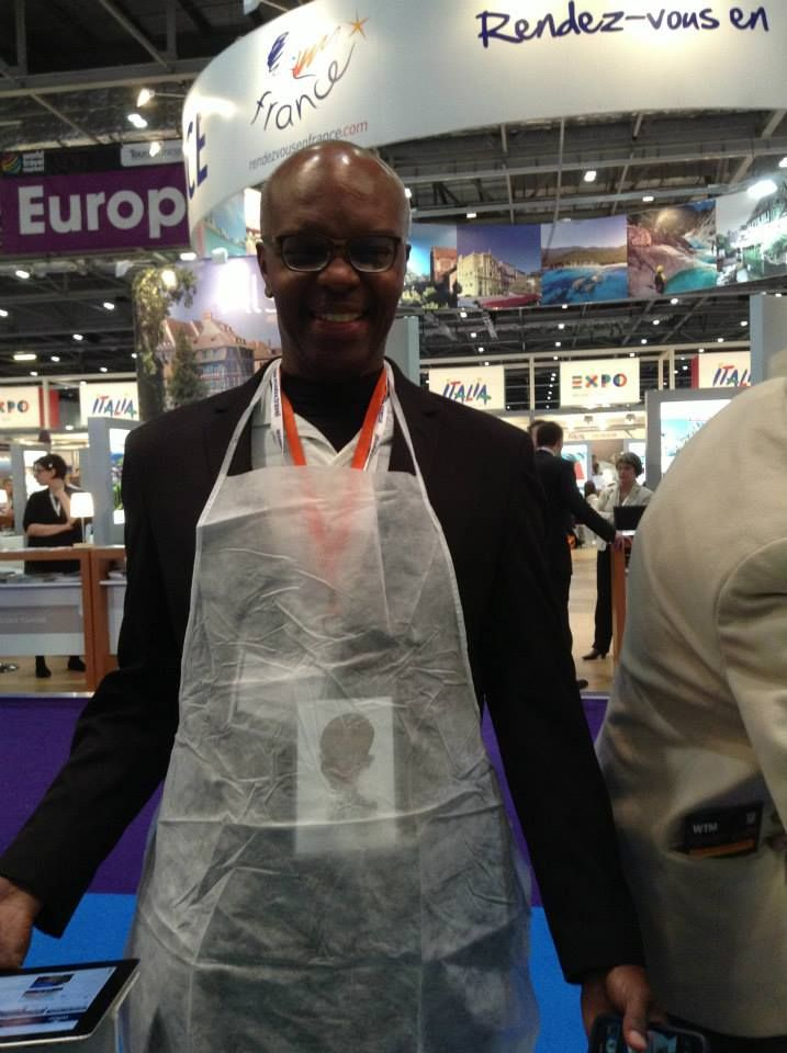 Kerwin is ready for cooking typical food from Puglia! #WTM13 #WeAreinPuglia