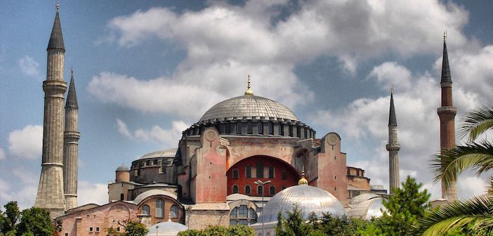 The Greek foreign ministry slammed Turkey for scheduling Muslim prayer readings during the Ramadan holiday inside Hagia Sophia, currently a United Nations