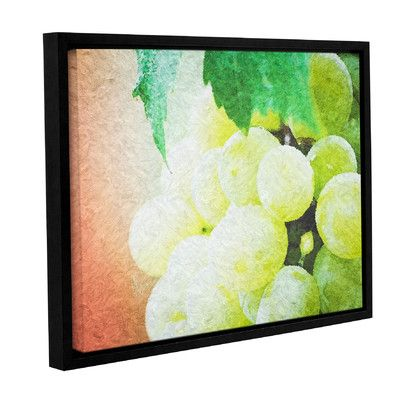 """Red Barrel Studio Planet of The Grapes Framed Graphic Art on Wrapped Canvas Size: 18"""" H x 24"""" W x 2"""" D"""