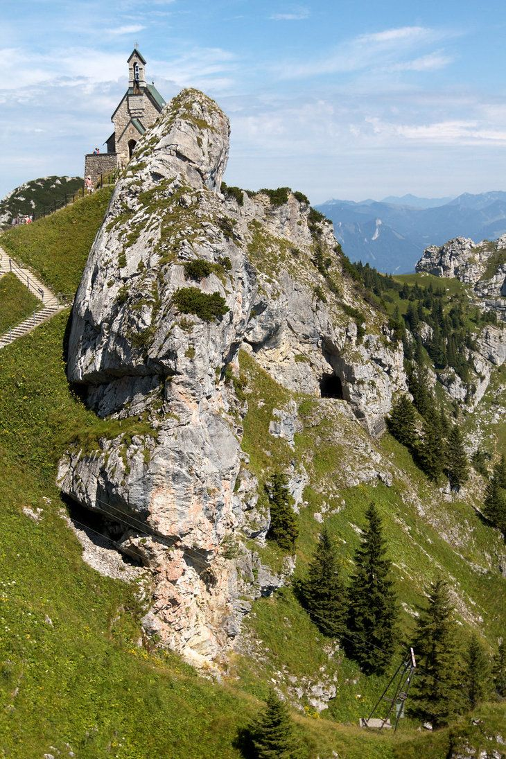 #Wendelstein Church #Germany's highest church on the 6030 foot high Wendelstein mountain #Bavaria #Germany