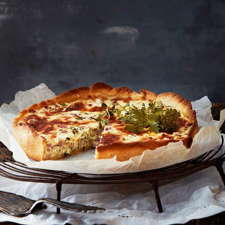 Quiche Lorraine eli kinkku-juustopiirakka   K-ruoka