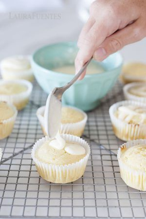 Lemon Yogurt Muffins with a Lemon glaze! These are so good in the lunchbox and are a great snack for after school. Packed with a little extra protein.