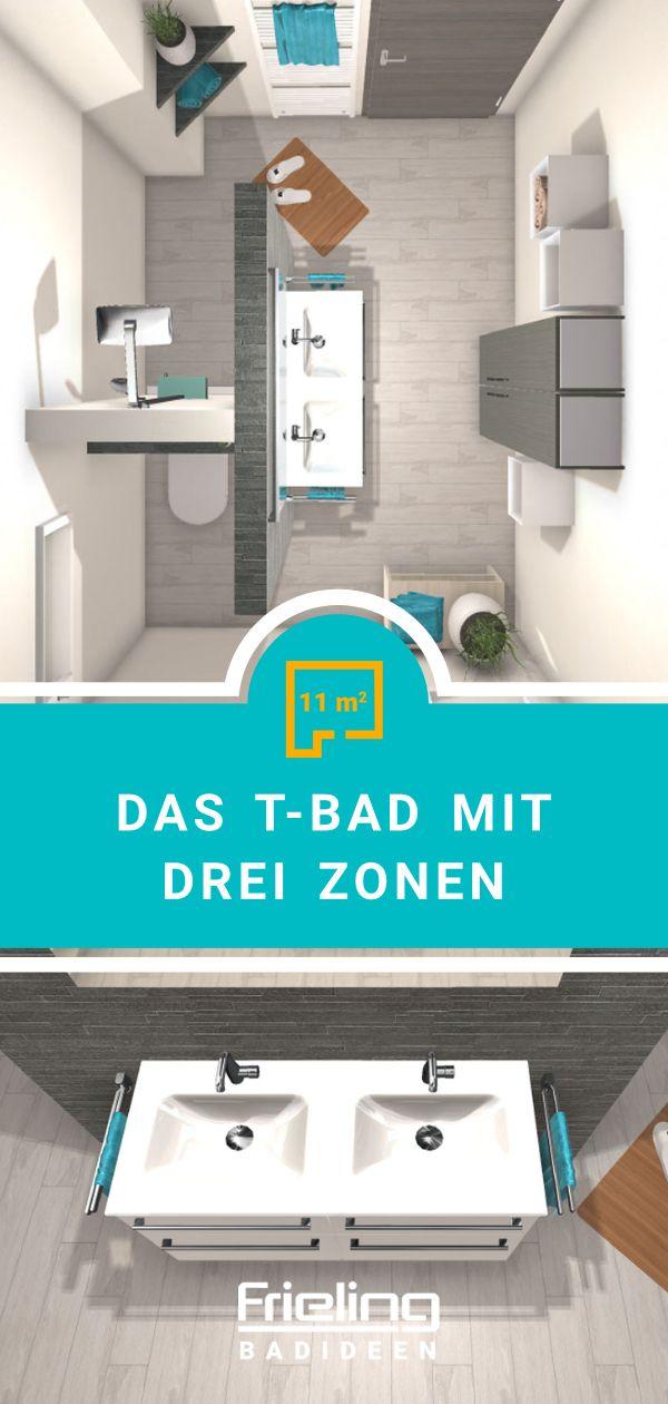 Bad T Bad Mit Drei Zonen 11 Qm Grosse Badezimmer Bad Grosse Bader