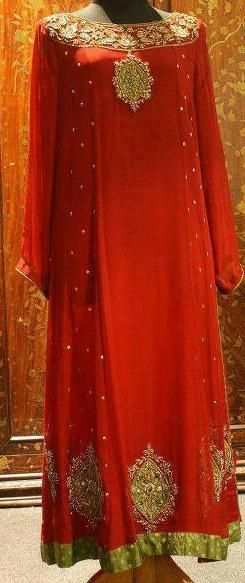Red- The color of love <3 | Dress code: PW013 | To order please visit: www.facebook.com/pakistanidressesonline and drop us a message in our inbox with the dress code| Love ♥ Pakistani Dresses Online