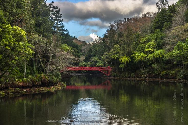 Poet's Bridge a Mt Taranaki, Pukekura Park, New Plymouth
