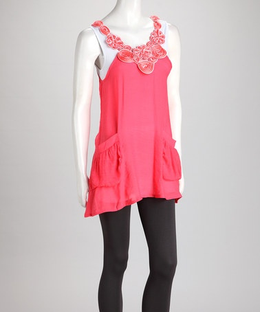 Take a look at this Pink Layered Tank by Trend Savvy: Women's Apparel on @zulily today!