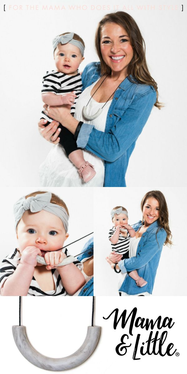 Discover the jewelry designed for the mama who does it all with style. Modern, multi-functional and on-trend silicone teething jewelry from Mama & Little!