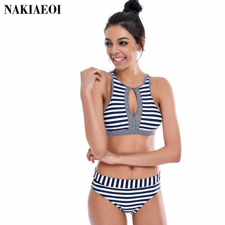$23.51 (Buy here: https://alitems.com/g/1e8d114494ebda23ff8b16525dc3e8/?i=5&ulp=https%3A%2F%2Fwww.aliexpress.com%2Fitem%2FNew-Vintage-High-Waisted-Swimwear-Striped-Pattern-High-Neck-Women-Swimsuit-Bikini-Strapless-Modest-Islamic-Swimwear%2F32702529195.html ) New Vintage High Waisted Swimwear Striped Pattern High Neck Women Swimsuit Bikini Strapless Modest Islamic Swimwear for Girls for just $23.51