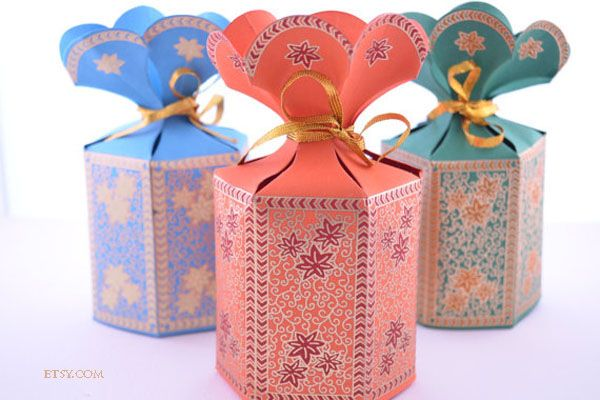 Indian wedding favours Potli Favour Boxes