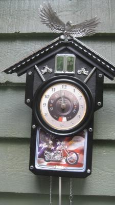 Harley davidson coo coo clock motorcycles pinterest coo coo clock harley davidson and clock - Motorcycle cuckoo clock ...