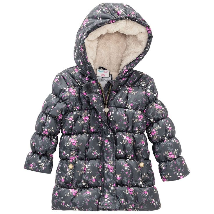 Baby Winterjacke mit Teddyfutter #babymode #babyclothes #babygirl