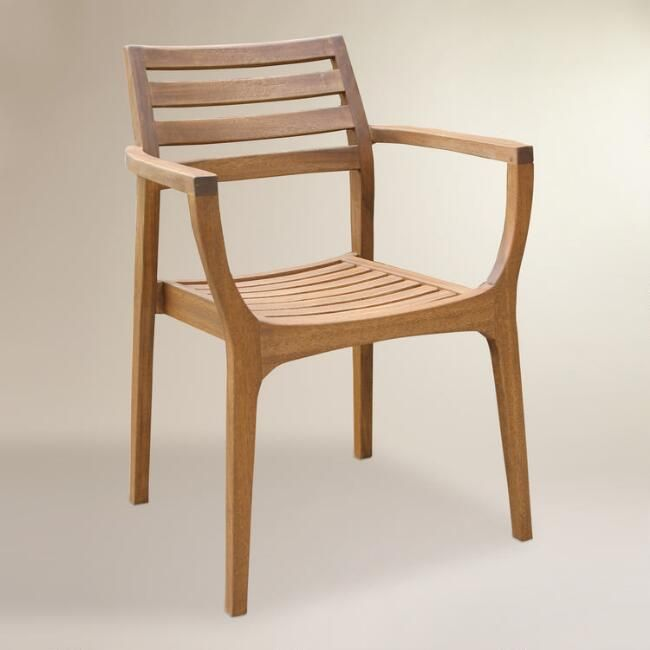 Wood Danner Stacking Armchairs, Set of 4 - v1