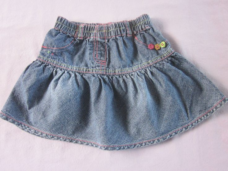 Baby girls Next denim skirt, 12-18 months
