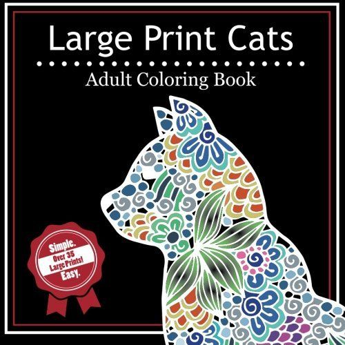 Popular Large Coloring Book 59 Large Print Cats A