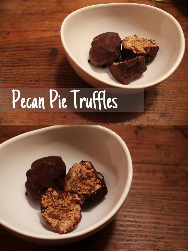 Pecan Pie Truffles--YUM! | Foodies | Pinterest