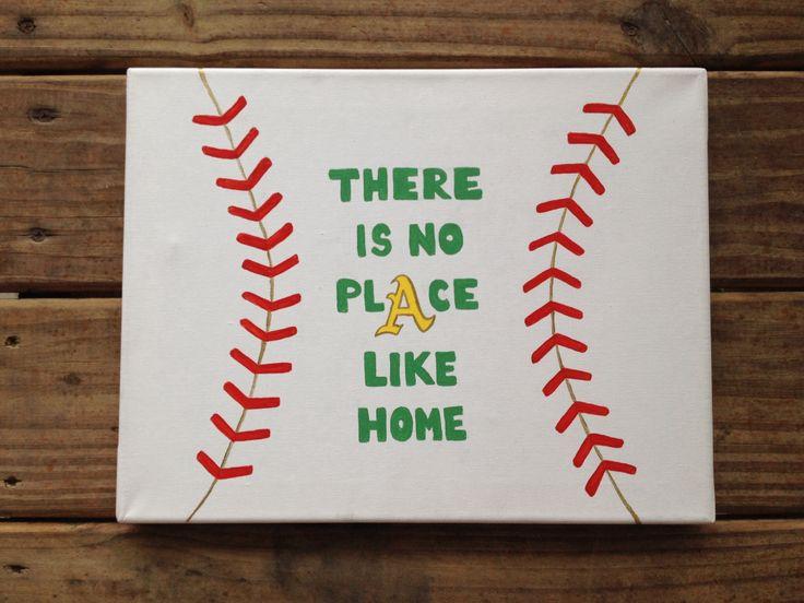Baseball canvas painting! Oakland Athletics! Acrylic painting.
