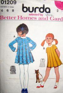 Cute kid's vintage sewing patterns
