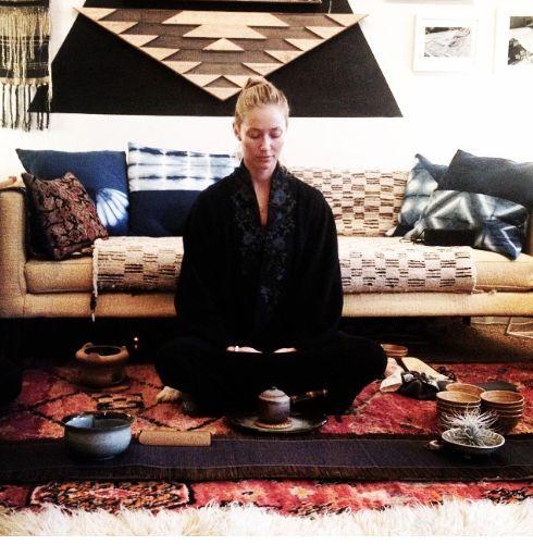 Vintage Persian rug pillow-